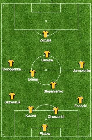 Ukraina w meczu z Anglią