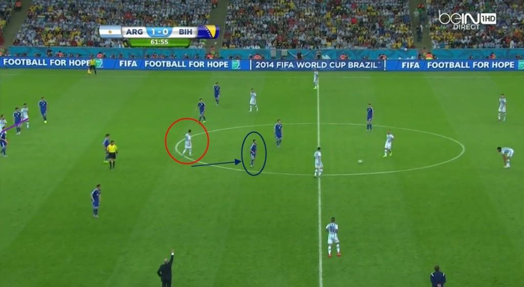 Brak balansu w środku Bośni dał więcej okazj Messiemu, jedna z nich przyniosła zwycięskiego gola