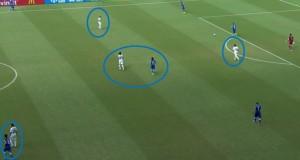 Urugwaj pozbawił Włochów zwyczajowej możliwości rozegrania, blokując Pirlo i boki boiska.