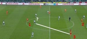 11 minuta meczu z Legią-  akcja bramkowa na 1:0. Pinto (?) wyszedł do przodu i zostawił Gajosa (3) bez opieki, Grzyb (1) świetnie poda do Tuszyńskiego, a ten odegra do Gajosa, strzelca bramki.