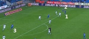 Słowa komentatorów wystarczą do opisania tej akcji: 'Sadaev (1) wprowadził do gry Kędziorę (2), wrzutka, strzał i gol!'. Akcja z meczu przeciwko Ruchowi. Bramkę strzelił Hamalainen (3), a wcześniej znakomity przerzut z lewego skrzydła Douglasa.